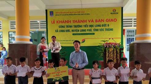 Khánh thành trường tiểu học do Đạm Cà Mau tài trợ tại tỉnh Sóc Trăng