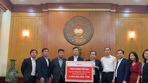 Honda Việt Nam hỗ trợ các tỉnh miền Trung 5 tỷ đồng