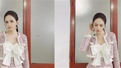 Hoa hậu Hương Giang đẹp nức nở trong set đồ tweed sang trọng tao nhã