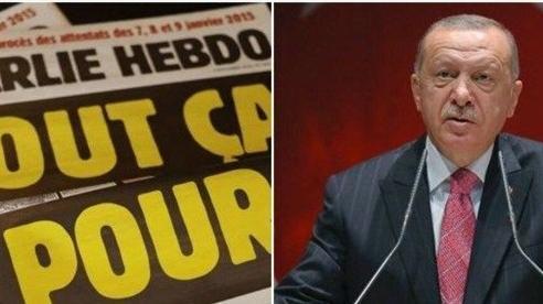 Thổ Nhĩ Kỳ lên án bức tranh biếm họa của báo Pháp về Tổng thống Erdogan