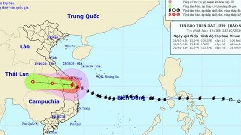 Tây Nguyên mưa lớn vì bão số 9