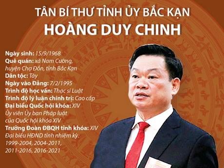 [Infographics] Tân Bí thư Tỉnh ủy Bắc Kạn Hoàng Duy Chinh