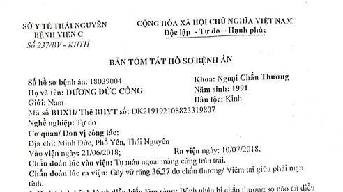 Thái Nguyên: Cần làm rõ nhiều điểm mờ trong vụ án cố ý gây thương tích tại thị xã Phổ Yên