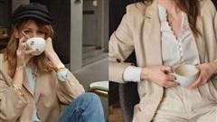 5 món trang phục màu trà sữa biến style thành siêu cấp sang trọng