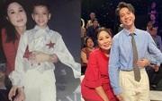 Bức ảnh S.T Sơn Thạch và NSND Hồng Vân ngày ấy - bây giờ gây sốt: Cậu bé năm xưa giờ như người khổng lồ trong lòng tiền bối!