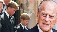 Hoàng thân Philip tiếp thêm sức mạnh cho William và Harry trước nỗi đau mất mẹ