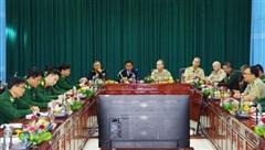 Đoàn tùy viên quân sự các nước tại Việt Nam thăm và làm việc với Bộ đội Biên phòng tỉnh Điện Biên