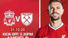 Trực tiếp Liverpool vs West Ham: Vượt chướng ngại vật