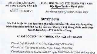 Sở GTVT tỉnh Bắc Giang đang 'vừa đá bóng vừa thổi còi'?
