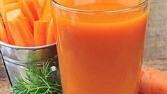 Uống nước cà rốt đúng cách tác dụng sẽ rất tốt