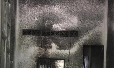 Hai vợ chồng cháy như ngọn đuốc trong nhà, nguy kịch