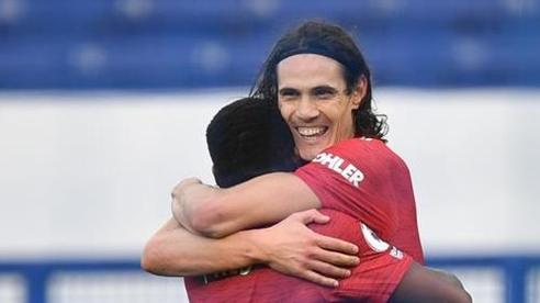 Bruno bùng nổ, Cavani 'mở tài khoản' giúp MU đè bẹp Everton