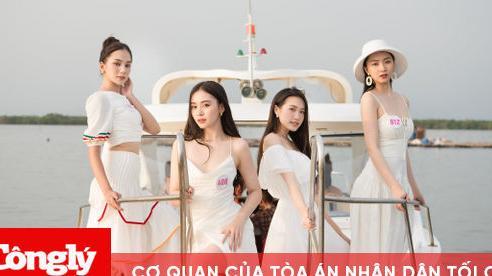 Thí sinh Hoa hậu Việt Nam khoe dáng ngọc qua tà áo dài tại Vũng Tàu