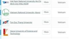 Thêm 3 trường ĐH Việt Nam lần đầu xuất hiện trong top hàng đầu châu Á