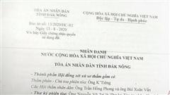 Vụ người dân thắng kiện Sở TN&MT Đắk Nông: Bản án Sơ thẩm thấu tình đạt lý