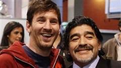 Messi thể hiện sự tôn vinh huyền thoại Diego Maradona