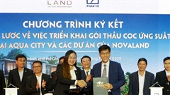 Phan Vũ và Novaland ký hợp tác chiến lược thi công Khu đô thị Aqua City