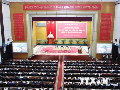 Tăng cường kiểm tra các tổ chức đảng, đảng viên ở cấp huyện và cơ sở