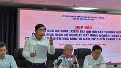 Họp báo vụ 1.386 trường hợp chuyển mục đích sử dụng đất sai quy định ở Hóc Môn