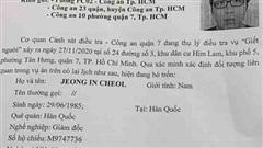 Vụ thi thể trong vali ở TP.HCM: Công an truy tìm giám đốc 35 tuổi người Hàn Quốc