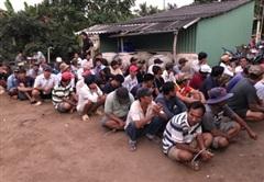 Triệt phá trường gà ở Tiền Giang, bắt giữ 69 đối tượng