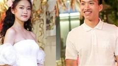 Không thừa nhận hẹn hò, Đoàn Văn Hậu vẫn công khai bên cạnh khi 'bạn gái tin đồn' Doãn Hải My mặc váy cưới
