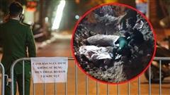 Ảnh: Cận cảnh khu vực phong tỏa nơi phát hiện quả bom 340kg ở Hà Nội, người dân không được dùng điện thoại trong bán kính 200m