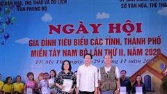 Tiền Giang: Trao giải thưởng Ngày hội gia đình tiêu biểu các tỉnh, thành phố miền Tây Nam bộ lần thứ II