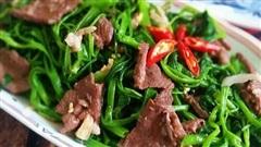 2 loại rau xào thịt bò thơm ngon cả nhà thi nhau gắp