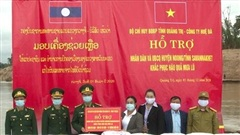 BĐBP Quảng Trị hỗ trợ 15 tấn gạo và nhu yếu phẩm cho nhân dân Lào