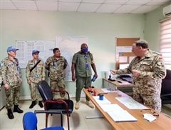 Sĩ quan mũ nồi xanh Việt Nam sẵn sàng thực thi sứ mệnh Gìn giữ hòa bình Liên hợp quốc