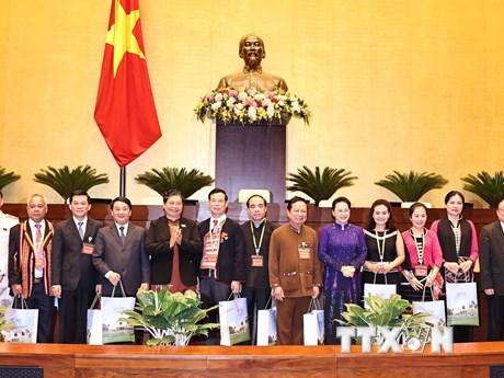 Chủ tịch Quốc hội tiếp Đoàn đại biểu dự Đại hội các dân tộc thiểu số
