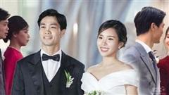 3 lần như 1, vợ Công Phương vẫn chung thủy với kiểu tóc thanh lịch trong đám cưới