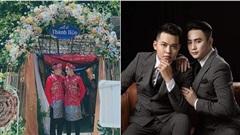 Cặp đôi đồng tính tổ chức đám cưới, nhan sắc khiến dân mạng 'đứng ngồi không yên'