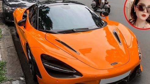 Nữ ca sĩ Đoàn Di Băng lần đầu cầm lái siêu xe McLaren 720S Spider chồng tặng lên phố