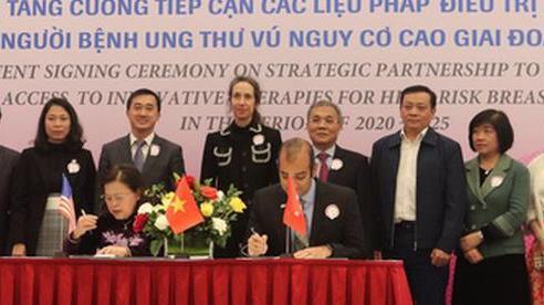 Bệnh nhân ung thư vú Việt Nam được tiếp cận liệu pháp điều trị tiên tiến