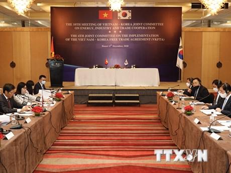 Việt Nam-Hàn Quốc hợp tác về thương mại, công nghiệp và năng lượng