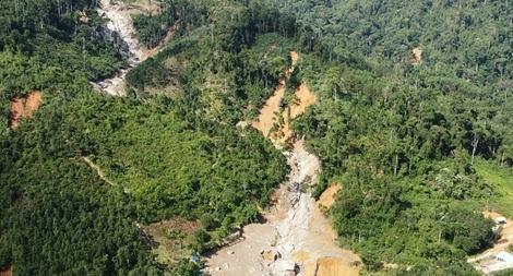 Sạt lở nhiều điểm rừng tự nhiên tái sinh ở đầu nguồn