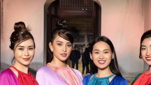 Tiểu Vy, Đỗ Mỹ Linh, Tống Diệu Hằng khoe sắc thắm thiết với váy tứ thân mớ ba mớ bảy