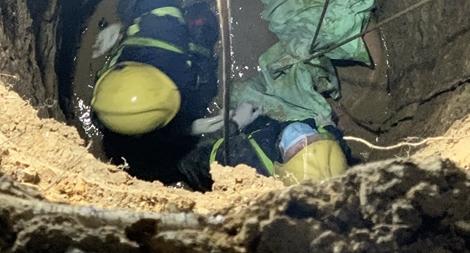 Người đàn ông rơi xuống giếng tử vong