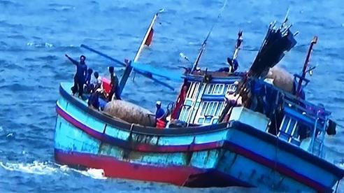 Bình Định: Một tàu cá bị sóng đánh chìm, 2 ngư dân mất tích trên biển