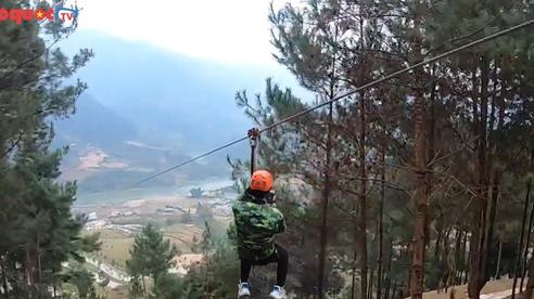 Đường trượt zipline dài nhất Việt Nam chính thức mở cửa đón khách du lịch ưa mạo hiểm