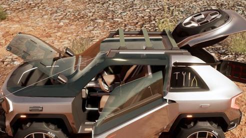 'Huyền thoại uống xăng' Hummer sẽ thế nào nếu có bản mini, chạy điện?