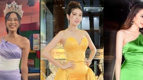 Đỗ Thị Hà, Hương Giang, Thúy Vân 'muối mặt' vì lộ điểm nhạy cảm vì váy lụa mỏng dính