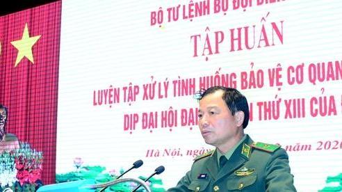 Luyện tập xử lý tình huống bảo vệ cơ quan Bộ Tư lệnh BĐBP