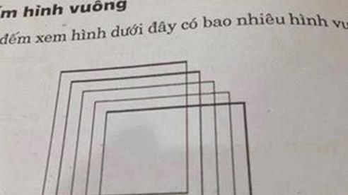 'Rối não' trước bài toán lớp 2 'trong ảnh có bao nhiêu hình vuông', tìm đáp án 'mất nửa thanh xuân'