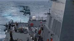 Uy lực tàu chiến Mỹ chở dàn tên lửa 'khủng' đang răn đe Trung Quốc trên biển Đông