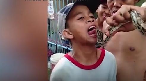 Thè lưỡi 'thử thách' trăn, thiếu niên nhận cái kết đau đớn