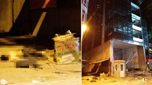 NÓNG: Sập giàn giáo ở Hà Nội, ít nhất 3 công nhân rơi từ tầng 6 xuống tử vong