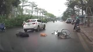 Tình huống giao thông khiến nhiều người tranh cãi giữa xe đạp và ô tô